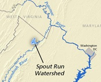 Spout Run Vicinity Map